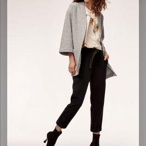 ARITZIA Wilfred Black Allant 100% Silk Trouser 8